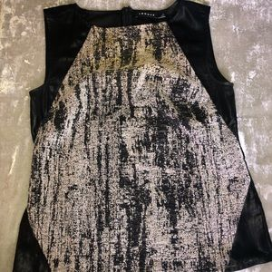 TROUVE Black and Grey Shell Top